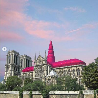 Proponen reestructurar catedral de Notre Dame con inflables