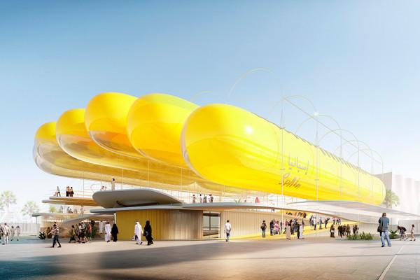 Arquitectos españoles proponen un pabellón inflable para Expo Dubai