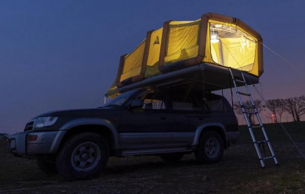 Tiendas inflables para instalar en techos de carros