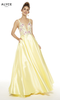 Alyce 60504 Embroidered Floral Top Prom Gown