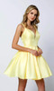 Yellow Short Dress Style 827 with Bow
