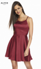 Alyce 4118 Short Homecoming Dress with Scoop Neckline