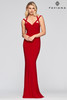 Faviana S10417,Long stretch dress in Faviana S10417 with sweetheart neckline & double strap detail, invisible hook & eye. This dress is perfect for your special holiday event or black tie- shop prom-avenue   Available in Black, Evergreen, Red