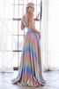 A-line Rainbow Color Dress style CD CW223