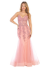 Long Gown with V Neckline style L 7575L