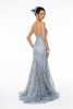 Glittered Long Mermaid Silhouette Dress GLS GL2965