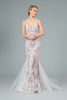 Long Mermaid Dress with Spaghetti Straps in style GLS GL2934