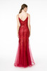 Long Red Mermaid Gown style GL2939
