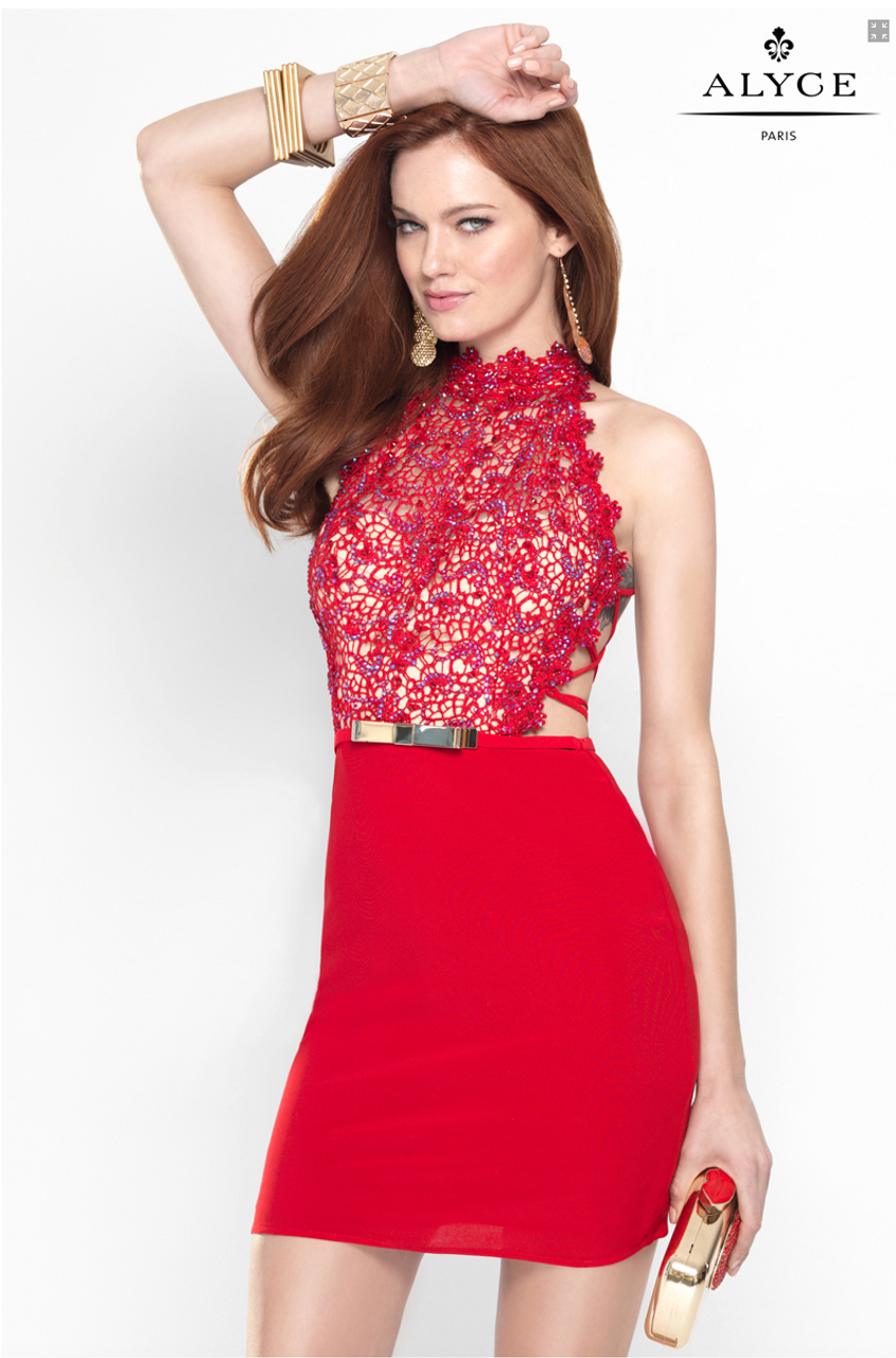 cd766596a3307 Fitted Short Cocktail Dress by Alyce