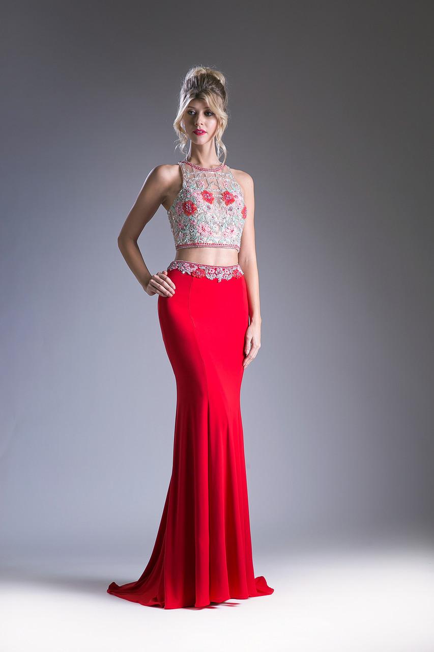 f1694b5c84 Beaded Two Piece Prom Dress FY83918