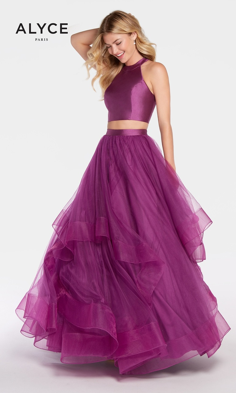 57e689806ccb4 Two Piece Layered Ball Skirt