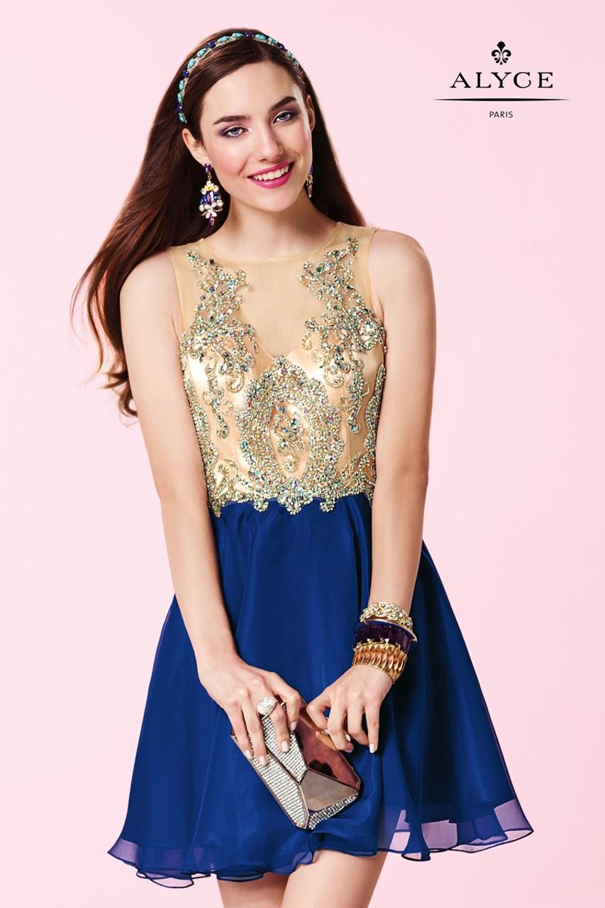 56932d17c09 Alyce Paris 3646 Sweet Homecoming Dress - Prom-Avenue