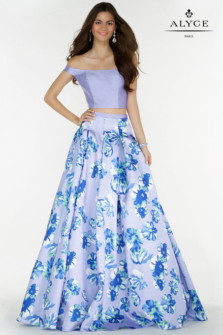 Long Two Piece Ballgown with Alyce 6808