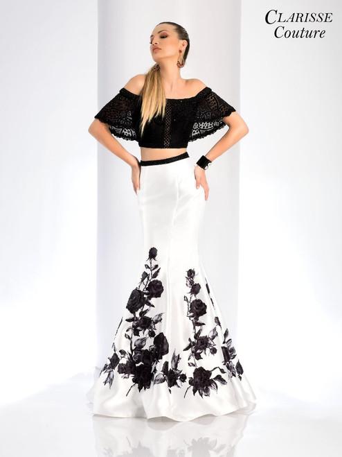 Clarisse 4906, clarisse couture 4906, prom avenue, black-white