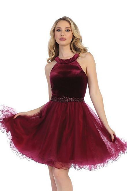 Halter Neckline Homecoming Dress