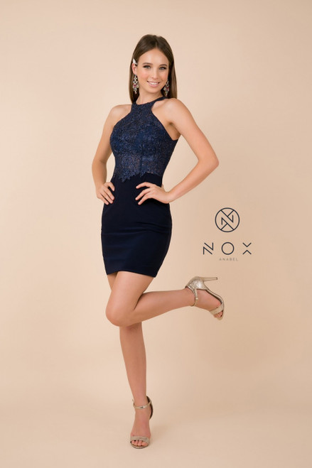 NX E697 Fitted Short Cocktail Dress