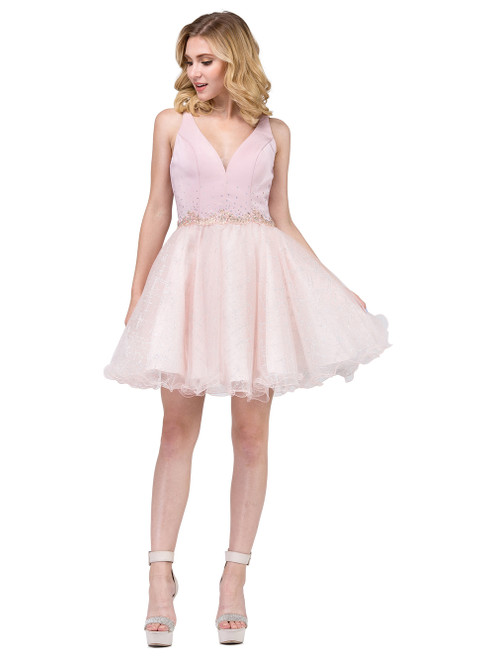 Dusty Rose Short Formal Dress