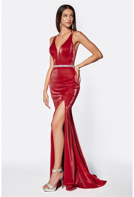 CD C81188, Going to the gala? This will be a dress for you, featuring a figure hugging silhouette with sexy back and side slit that ready for compliments in style CD C81188. - shop prom-avenue