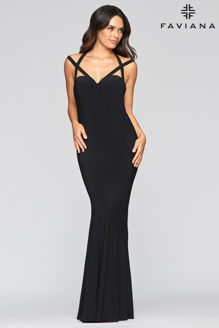 Faviana S10417 Long Stretch Formal Dress