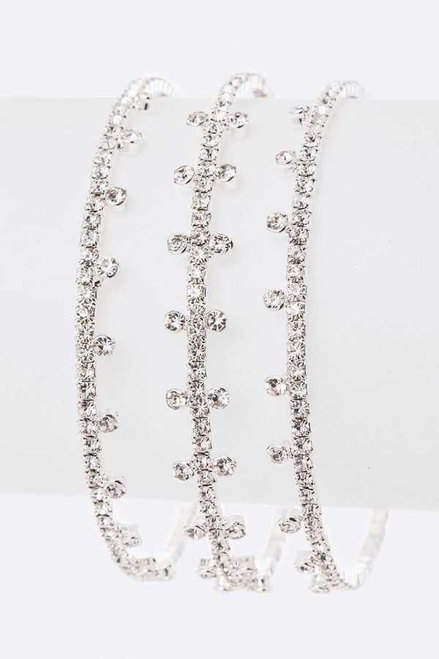 Embellished radiant rhinestone flex cuff, lead and nickel compliant- shop prom avenue