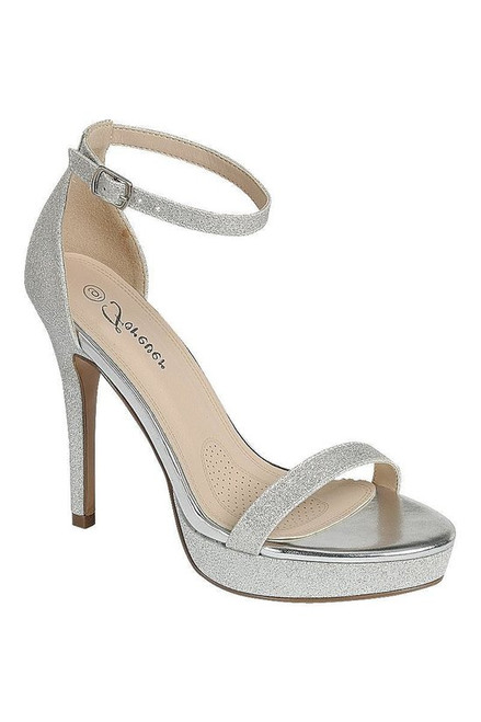Wear your sandals with confidence, this dress comes in silver color that sparkles with towering high heels and adjustable ankle wrap buckle closure - shop prom avenue  Available in Silver Color  Standard Shipping 7-10 Business Days