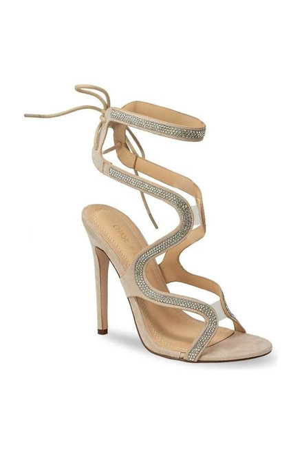 Radiant, ultra glam and confidence exudes in this nude heels, sizing is true to size with heel height approximately 4 inch. It has embellished details and straps that ties on the back.   Available in Nude, sizes 6 to 10