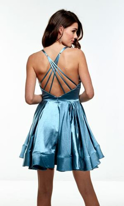 Blue Homecoming Dress in style AP 1676