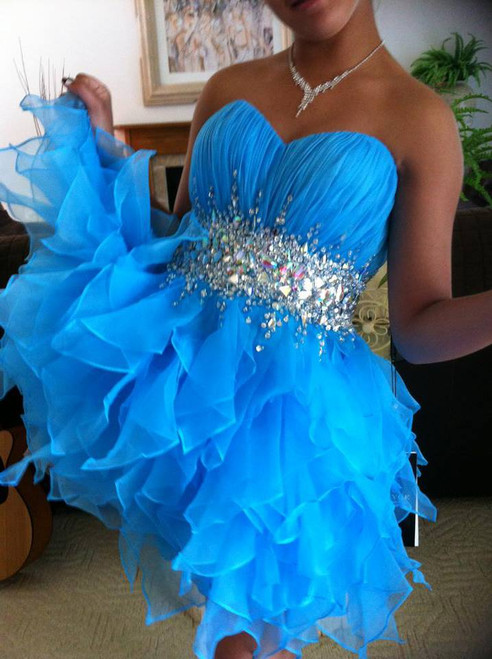 Turquoise sweet 16 Dress Alyce 3574
