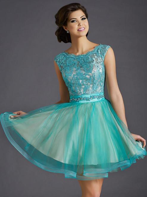 Clarisse 2658 Lace Cocktail  Dress