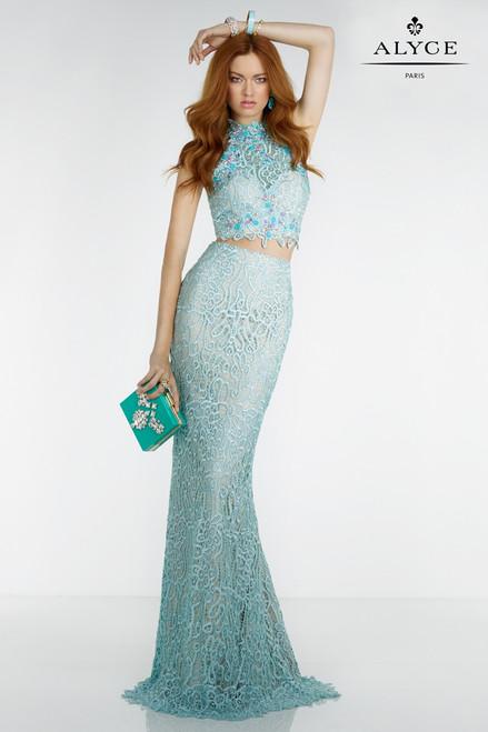 Alyce Paris 6521 Halter Top 2 Piece Prom Dress