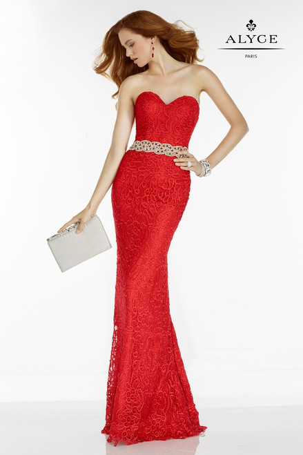 Alyce Paris 6593 Sweetheart Neckline Prom Dress