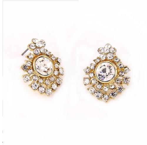 Cluster Rhinestone Post Earrings
