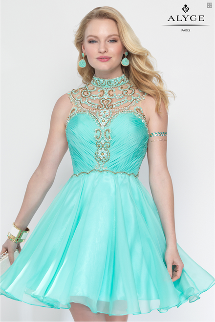 Chic Beaded Party Dress by Alyce Paris 3681