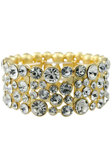 Clear/Gold Stretch Bracelet
