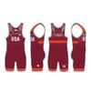 Nike Men's USAWR Grappler Elite Tour Wrestling Singlet - Red
