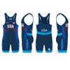 Nike Women's USAWR Budapest Tour Wrestling Singlet - Navy