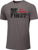 Nike Youth Boxing Be First Cotton Tee - Grey