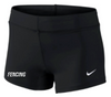 Nike Women's Fencing Performance Game Short - Black/White