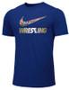 Nike Men's Wrestling Multi Flag  Tee - Royal