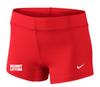 Nike Women's Weightlifting Performance Game Short - Scarlet/White