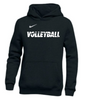 Nike Youth Volleyball Pullover Club Fleece Hoodie - Black/White