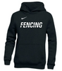 Nike Youth Fencing Pullover Club Fleece Hoodie - Black/White