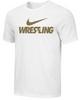 Nike Men's Wrestling Tee - White/Gold