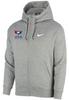 Nike Youth USAWR Club Fleece Full Zip Hoodie - Heather Grey