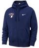 Nike Men's USAW Club Fleece Full Zip Hoodie - Navy/White