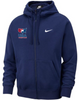 Nike Men's USAWR Club Fleece Full Zip Hoodie - Navy/White