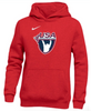 Nike Youth USAW Club Fleece Pullover Hoodie - Scarlet