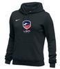 Nike Women's USAF Club Fleece Pullover Hoodie - Black
