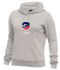 Nike Women's USAF Club Fleece Pullover Hoodie - Heather Grey