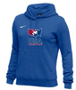 Nike Women's USAWR Club Fleece Pullover Hoodie - Royal